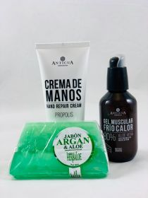 Propolis Hand Cream + Heat-Cold Gel 100ml + Aloe Vera and Argan soap