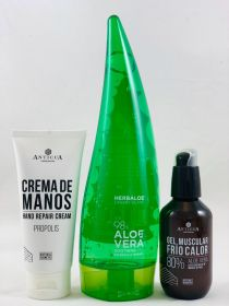 Propolis Hand Cream + Heat-Cold Gel 100ml + Aloe vera gel 98%