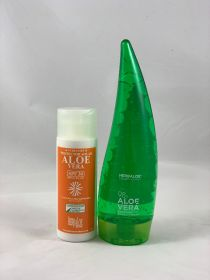 Pack Aloe Vera gel pure 98% 200ml & SPF 30 Sun Cream