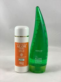 Pack Aloe Vera gel pure 98% 200ml & SPF 15 Sun Cream
