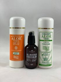 Pack Aloe Vera Shampoo , Heat-Cold Gel 100ml & SPF 15 Sun Cream