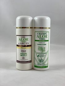 Pack Pure Aloe Vera & Argan gel y Shampoo 250 ml