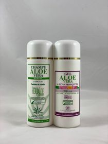 Pack Pure Aloe Vera & Rosehip Gel  & Shampoo 250 ml