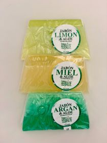 Aloe Soap Pack with: Argan, Lemon & Honey