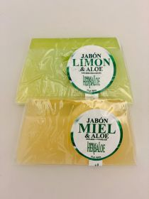 Aloe Soap Pack with: Lemon , Honey 75gr