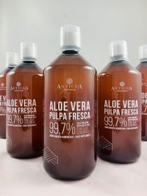5 LITTERS - 5 Bottles of Eco Cultivated Aloe Vera Juice 1000 Ml