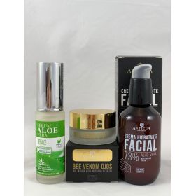 Pack de Serum 30ml, CONTORNO de ojos y crema hidratante facial 100ml