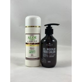 Pack de Gel Aloe &Argán y Gel muscular 200ml